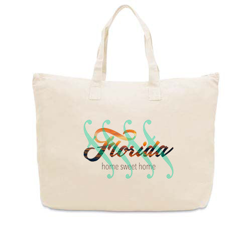 Florida Sweet Home CANVAS TOTE