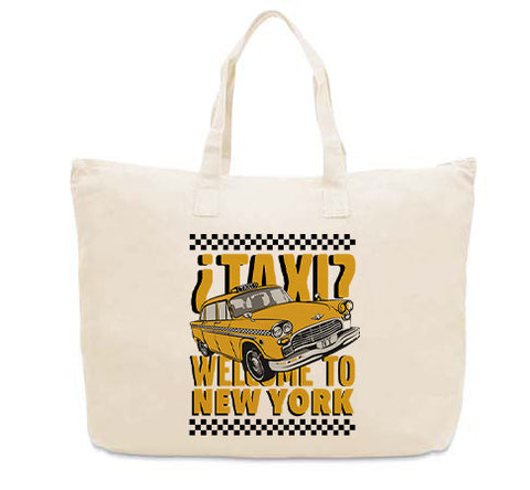 Viva Hey Taxi CANVAS TOTE
