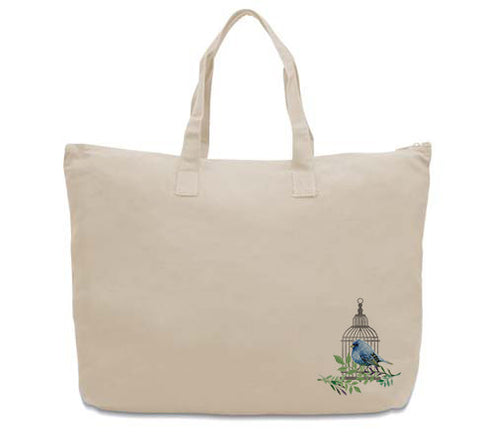 Bird Cage CANVAS TOTE