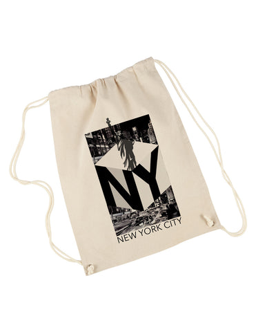 New York NOW DRAWSTRING BACKPACK