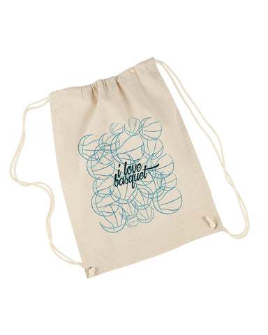 Just love basquet DRAWSTRING BACKPACK