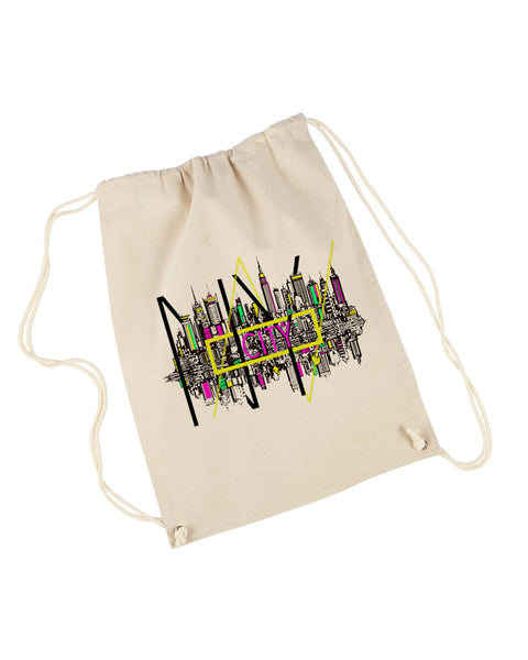 Complicated Time DRAWSTRING BACKPACK