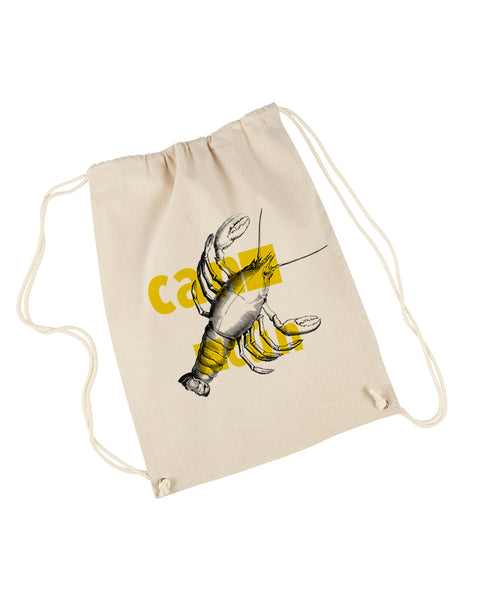 Lobster in Cancun DRAWSTRING BACKPACK