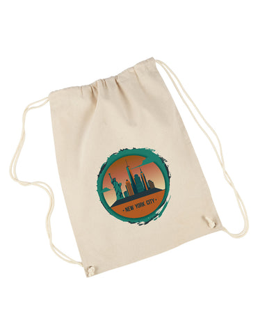 Views in New York DRAWSTRING BACKPACK