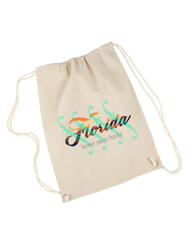 Florida Sweet Home DRAWSTRING BACKPACK