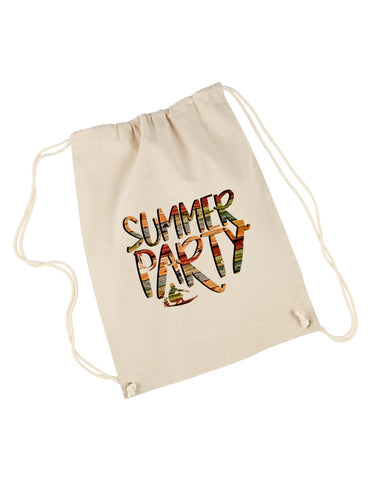 Summer Party DRAWSTRING BACKPACK