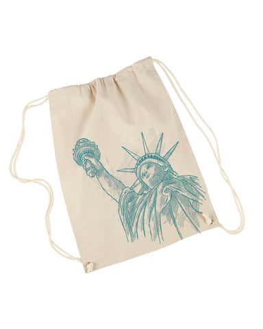 New York to be free DRAWSTRING BACKPACK