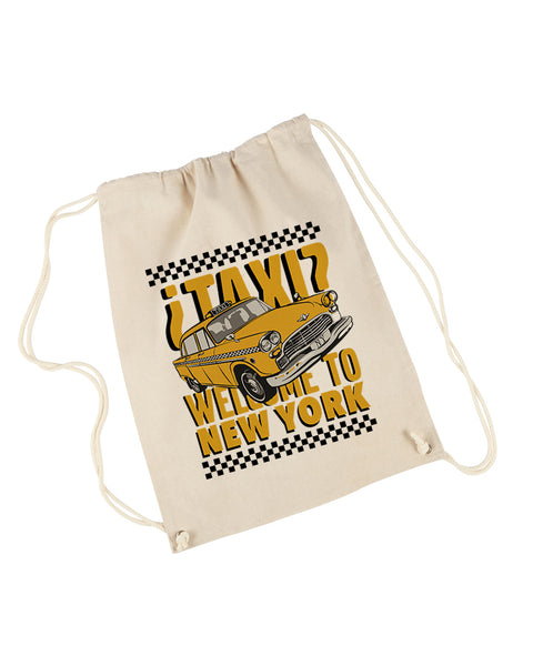 Viva Hey Taxi DRAWSTRING BACKPACK