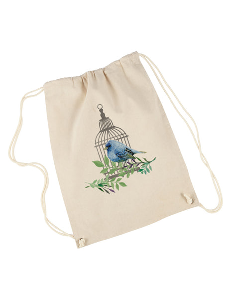 Bird Cage DRAWSTRING BACKPACK