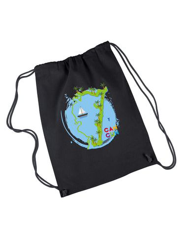 Cancun Boat DRAWSTRING BACKPACK
