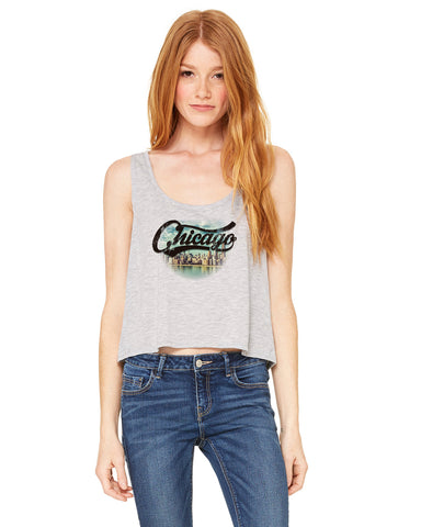 Chicago Skyline LADIES' BOXY TANK