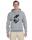 Black White Horse MEN'S PULLOVER HOOD