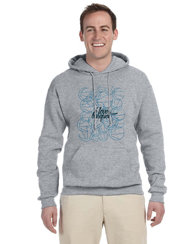 Just love basquet MEN'S PULLOVER HOOD