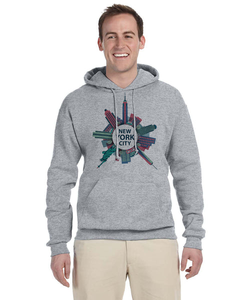 Getting Around in NYC MEN'S PULLOVER HOOD
