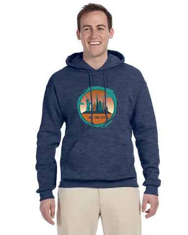 Views in New York MEN'S PULLOVER HOOD