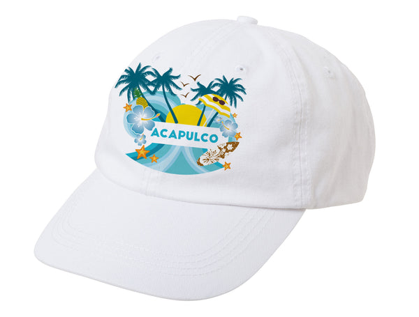 Acapulco Coconut Tree BASEBALL CAP