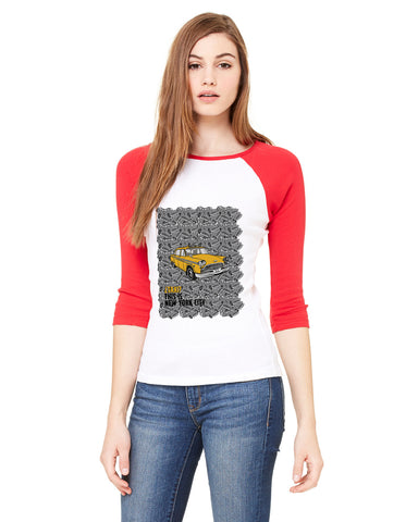 Super Taxi Wey in NY LADIES' 3/4 SLEEVED RAGLAN