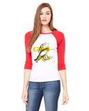 Lobster in Cancun LADIES' 3/4 SLEEVED RAGLAN