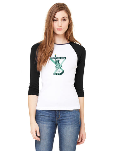 Town of Liberty LADIES' 3/4 SLEEVED RAGLAN