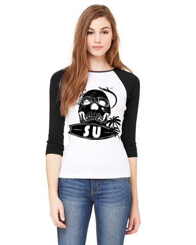FreeSu LADIES' 3/4 SLEEVED RAGLAN