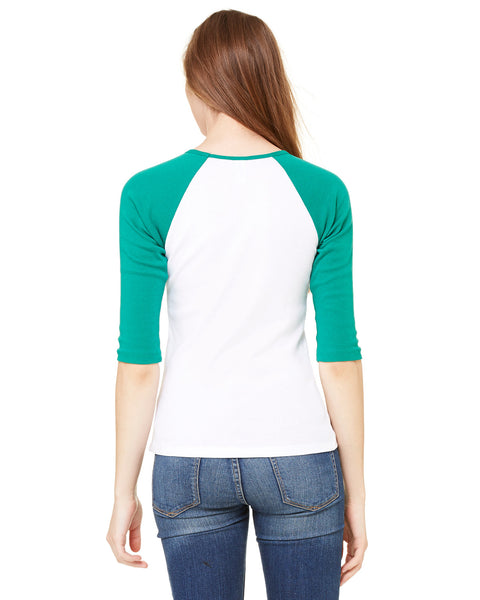 Viva Hey Taxi LADIES' 3/4 SLEEVED RAGLAN