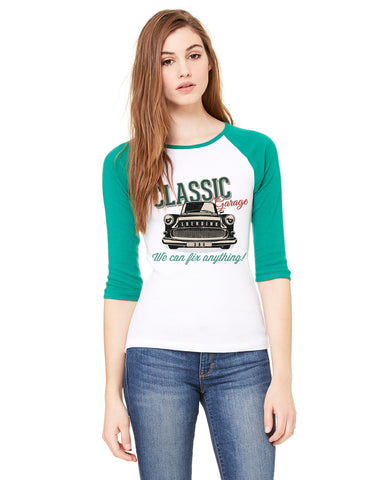 Classic 365 LADIES' 3/4 SLEEVED RAGLAN