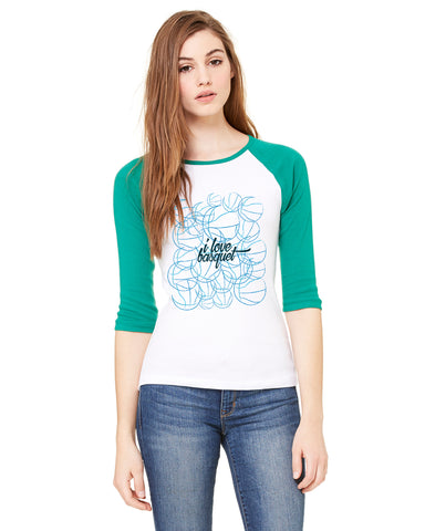 Just love basquet LADIES' 3/4 SLEEVED RAGLAN