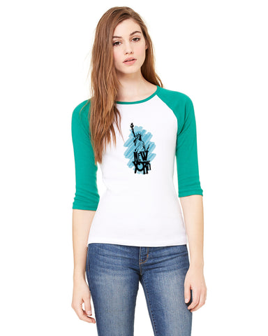 Visiting The Liberty LADIES' 3/4 SLEEVED RAGLAN
