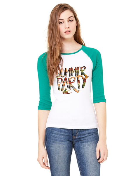 Summer Party LADIES' 3/4 SLEEVED RAGLAN