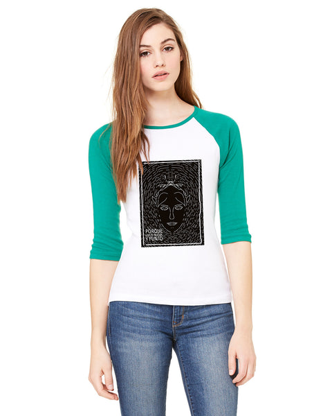 Because why LADIES' 3/4 SLEEVED RAGLAN