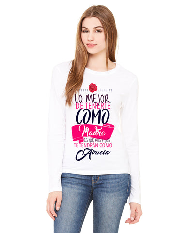 Love Mom LADIES' LONG-SLEEVED