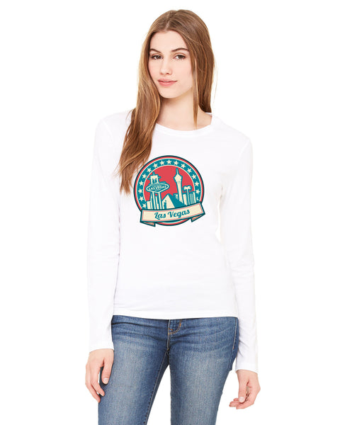60's Las Vegas LADIES' LONG-SLEEVED