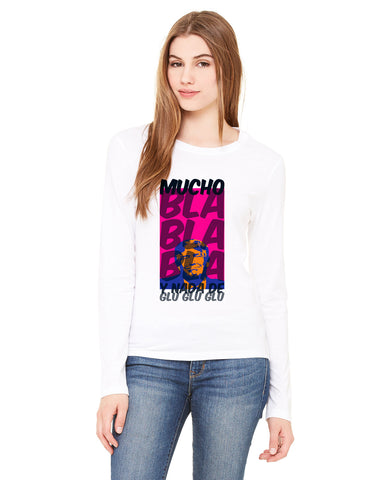 Donald Trump bla bla bla LADIES' LONG-SLEEVED