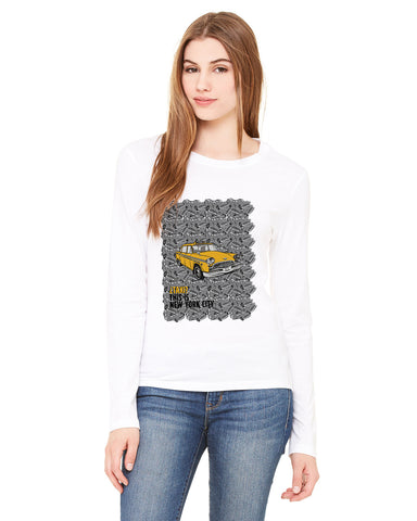 Super Taxi Wey in NY LADIES' LONG-SLEEVED