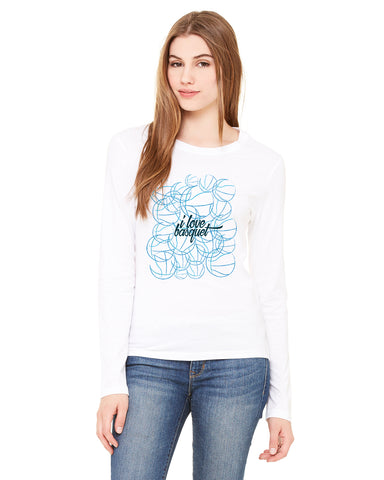 Just love basquet LADIES' LONG-SLEEVED