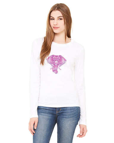 Colorful Elephant LADIES' LONG-SLEEVED