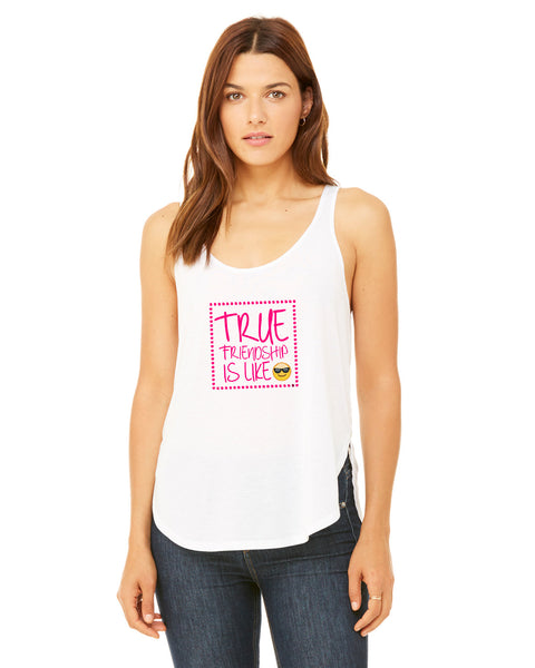 True Friendship LADIES' SIDE SLIT TANK