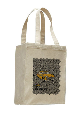 Super Taxi Wey in NY SHOPPING TOTE BAG