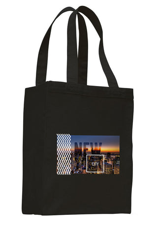 New York Twilight SHOPPING TOTE BAG