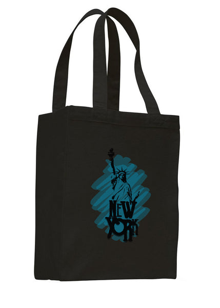 Visiting The Liberty SHOPPING TOTE BAG
