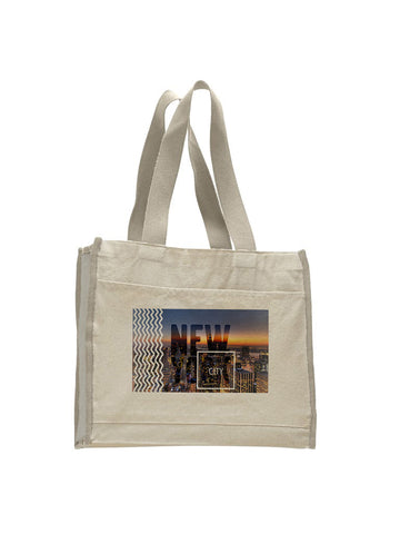 New York Twilight TOTE BAG WITH COLORED TRIM