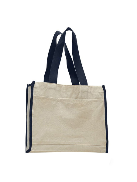 TOTE BAG WITH COLORED TRIM