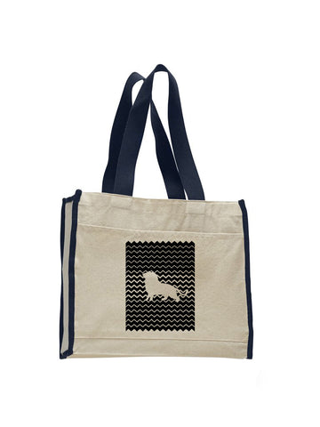 Magnificent Lion TOTE BAG WITH COLORED TRIM