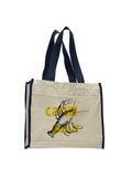Lobster in Cancun TOTE BAG WITH COLORED TRIM
