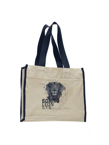 Beautiful leo TOTE BAG WITH COLORED TRIM