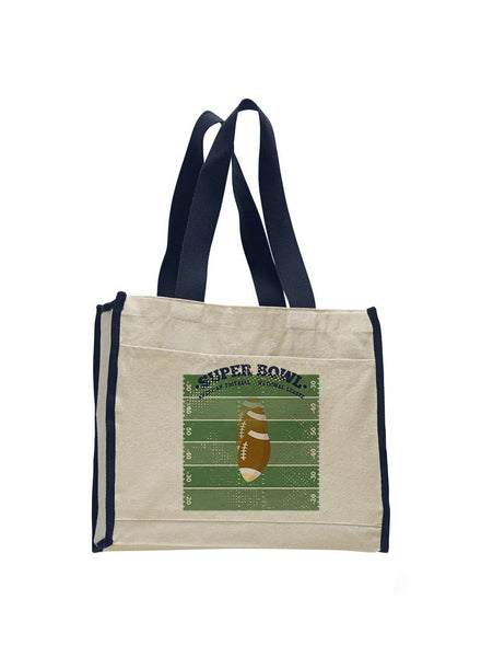 Super Bowl GO TOTE BAG WITH COLORED TRIM