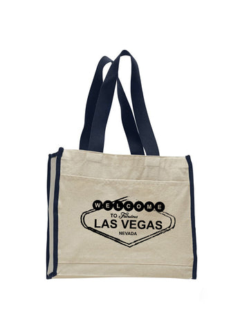Las Vegas Symbol TOTE BAG WITH COLORED TRIM