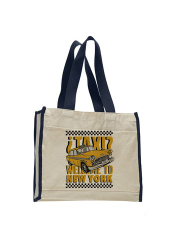 Viva Hey Taxi TOTE BAG WITH COLORED TRIM