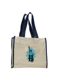 Visiting The Liberty TOTE BAG WITH COLORED TRIM