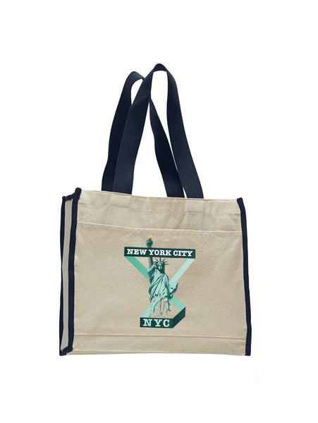 Town of Liberty TOTE BAG WITH COLORED TRIM